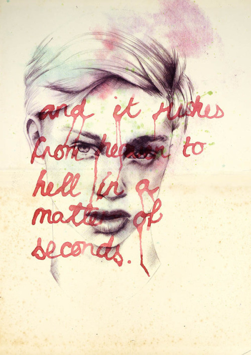 artchipel:  Rosalie Kate Whittingham | on Tumblr - Visual self portrait