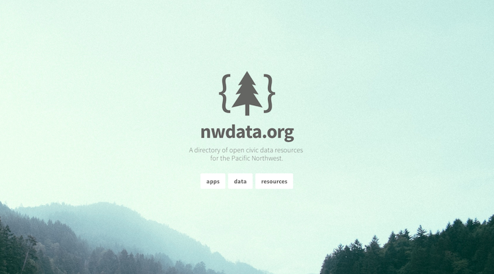 nwdata.org is a new project I'm working on as part of Code for Seattle. It's a directory of open civic data resources for the Pacific Northwest. I just started it, so there's plenty of work to do. You should fork the repository for the site on GitHub and add what you know about open data in the northwest.
