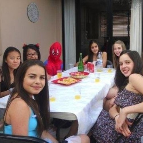 9gag:  My sister got invited to a dress up party, guess which one she is.