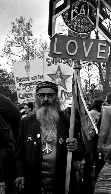 vietnamwarera:  Protester in Washington, DC, 1970