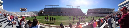 It's a beautiful day for football is Blacksburg!