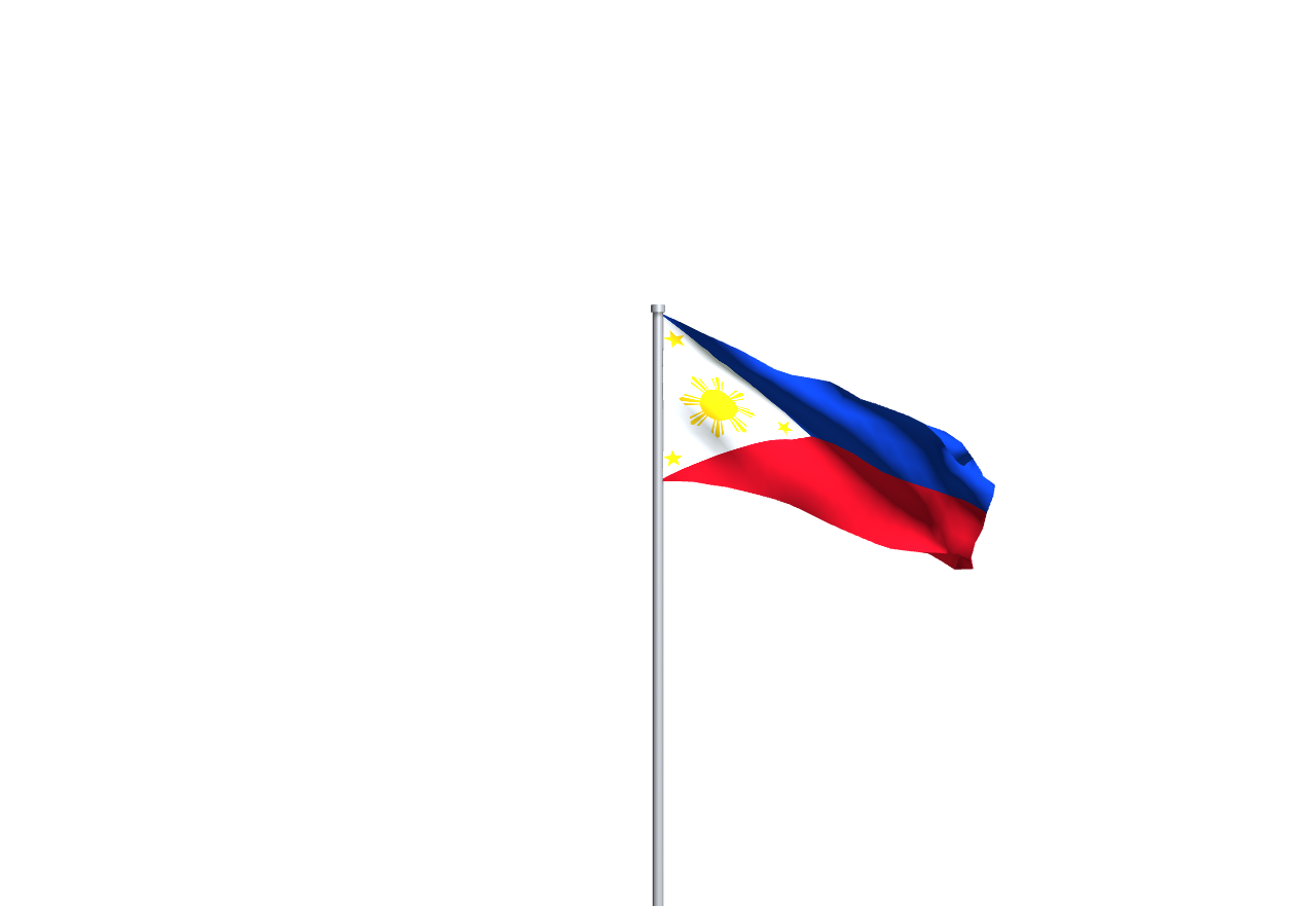 Flag of the Philippines with a transparent background #flag of the philippines #transparency#transparent background
