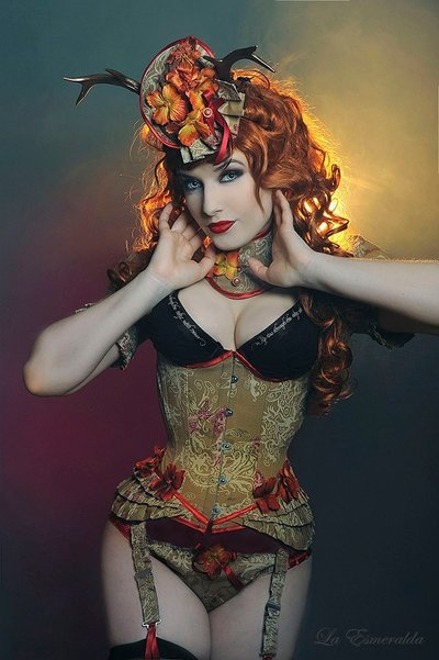 everythingcorsets:  Sophisticated Deer by *la-esmeralda