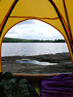 viewfromthetent:  Tent View at BWCA by Brody Johnson on Flickr.