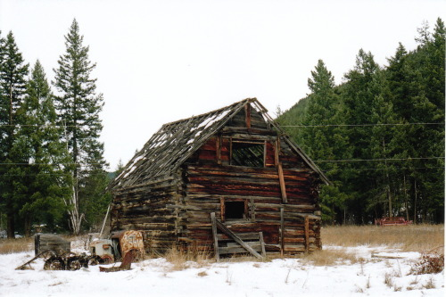 Remnants of the mine (Building). Dunn Lake, BC. December 2011.