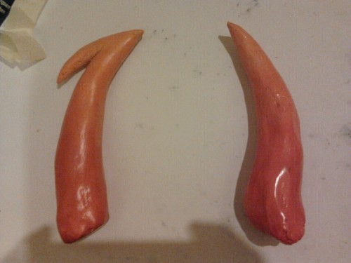 Kanaya's horns! I'll be cosplaying her this weekend so expect more photos ^w^ (also sorry for being so inactive lately, I havent had much time for art ,_,)