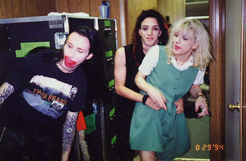 Is that Marilyn Manson and Courtney Love?