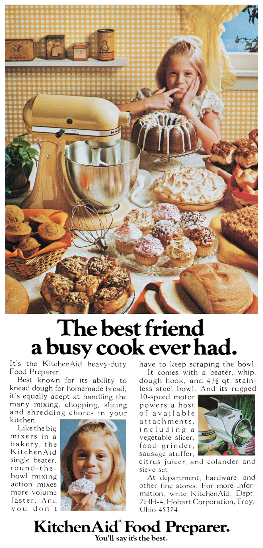 KitchenAid Advertisement - Gourmet: April 1977
