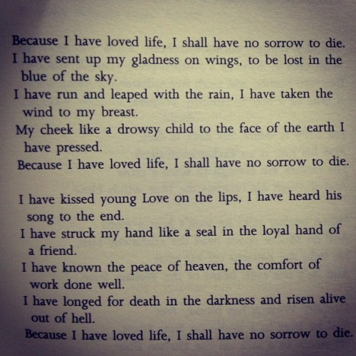 Excerpt from A Song of Living by Amelia Josephine Burr #dailypoetry #goodmorning #literature