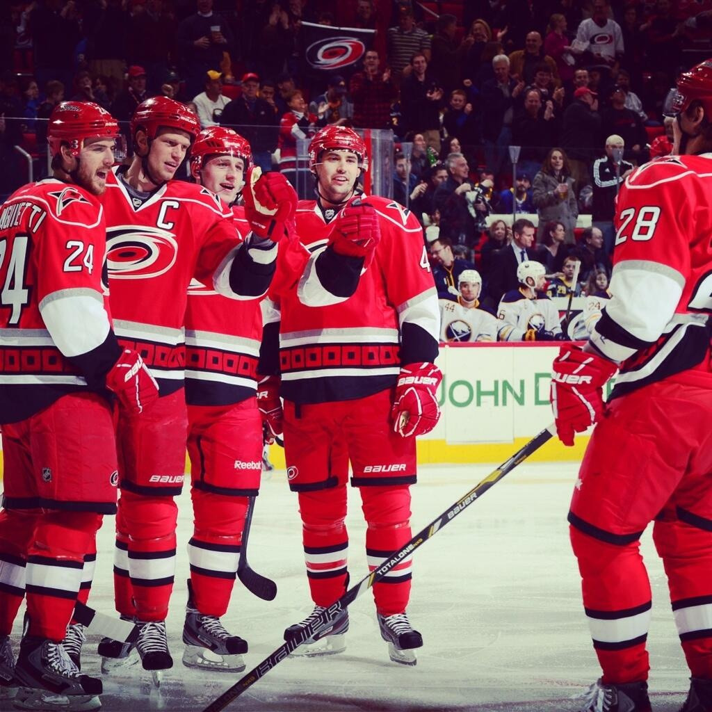 Congrats to Carolina! E. Staal with his 600th point and Sasha with first star!