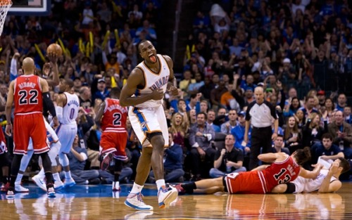 (via Second Look: Thunder vs. Bulls | THE OFFICIAL SITE OF THE OKLAHOMA CITY THUNDER) Thunder Up!