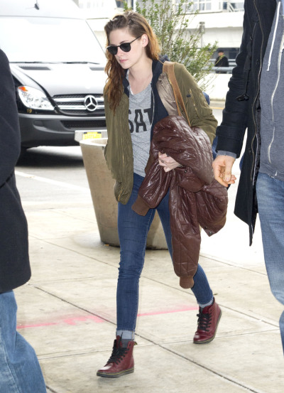 Kristen Stewartarriving at JFK Airport in New York City on Saturday…