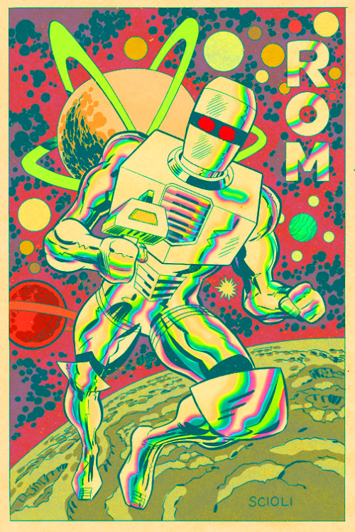 Rom drawing by Tom Scioli