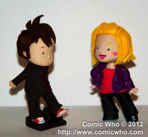 There's no birthday without gifts! Here a couple of dolls we gave to David Tennant and Billie Piper during a convention in december last year! Again, Happy Birthday to David Tennant
