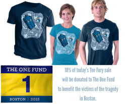 I have decided to donate 10% of today's TeeFury sale (www.teefury.com) to benefit The One Fund:http://onefundboston.org/Boston Strong!
