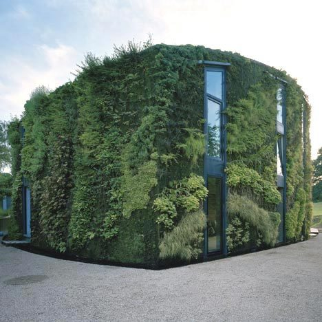 urbangreens:  House on the outskirts of Brussels with plant-covered wall by French botanical artist Patrick Blanc via Dezeen