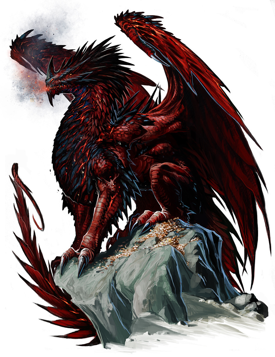 Ancient Red Dragon by *BenWootten