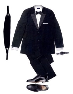 "The Correct Evening Attire  The dinner jacket (or Tuxedo as it's known in the United States) was the invention of the then Prince of Wales around 1865. It was based on a smoking jacket, in a rich black died wool and sported silk faced lapels. The manufacturer was probably Henry Poole, the Prince's trusted Savile Row tailors. The American's accredit the jacket to tobacco heir; Griswold ""Grizzy"" Lorillard who first wore the jacket to a function he attended in a country club in Tuxedo Park, just outside New York. However, he is quoted as asking the same Savile Row tailor to make him a jacket ""like that worn by the Prince of Wales"" making him only the second person to wear one and not its creator.   A design classic By the 1920s the dinner jacket had replaced the tail coat in all but the most formal occasions. The Duke of Windsor, himself a trend-setter, popularised a double breasted version that had a distinct shawl-collar to it. However, the man who is synonymous with the dinner suit is Ian Flemming's character creation; James Bond. Sean Connery made his début as Bond in the 1963 film Dr. No and instantly became the epitome of suave sophistication. Those first celluloid images have now taken on iconic status and few men donning a dinner jacket for the first time cannot resist the temptation of clasping their hands in the shape of a gun and acting out the title sequence. The other man who made it cool to wear the jacket was Andy Warhol who's unique sense of style saw him team it with Levi 501's, a practice that is once again fashionable.  Purchasing Very few men get this right, but if you do you will stand head and shoulders above your peers, look more sophisticated, worldly wise, rich and ultimately more attractive (and who doesn't want to be that?).  Most people when attending a black tie function want to add their own personal style to the dinner suit, and, in doing so, break some of the golden rules of formal dressing. All too often they will purchase bright coloured bow-ties, jazzy waistcoats or lerish cummerbunds in an attempt to look more stylish. The truth, however, is that any deviation from that of tradition will have the opposite effect and possibly bring attention of the wrong kind to the wearer. Bowties that look as if they may light up and spin round at any moment are not very James Bond, are they? Likewise, steer clear of any accessories that might make you look like the cabaret act or bingo caller. Instead opt for simple black and white. The bowtie itself should always be a real one, the ready-tied variety that fasten with Velcro simply don't cut it. Ensure that you learn how to tie a bowtie properly before the event. You'll be glad you did at the end of the evening when you can undo it and leave in casually around your neck. The second biggest mistake is that of purchasing a wing collar shirt to wear with a black tie, this is simply bad form. The wing collar shirt should only ever be worn with a white tie and tails, never with a dinner jacket. The correct shirt has a full, turned down, collar and can be either plain or with a pleated front.  The Knowledge A true man knows how to tie a bowtie Having money doesn't necessarily mean you have style."