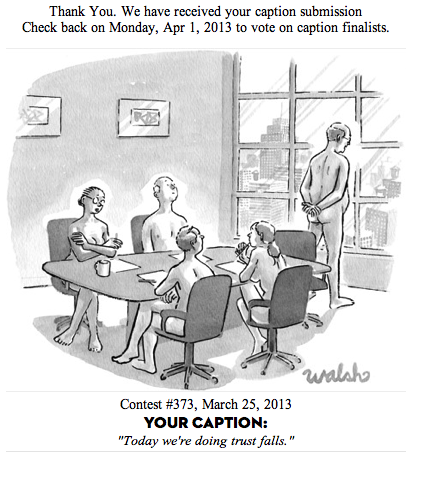 Failed New Yorker cartoon caption.