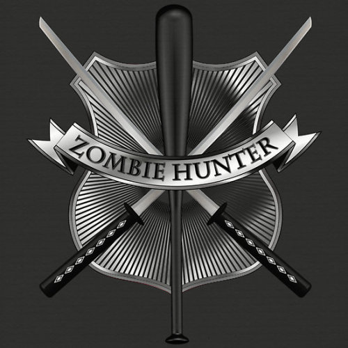 Zombie hunter shield  http://www.redbubble.com/people/puppaluppa/works/9181230-zombie-hunter-shield