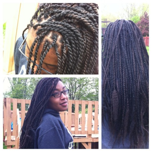 Finished @alyainxx twists! #senegalesetwists #marleytwists #boxbraids  Schedule your appointment now! Hmu, only $80!