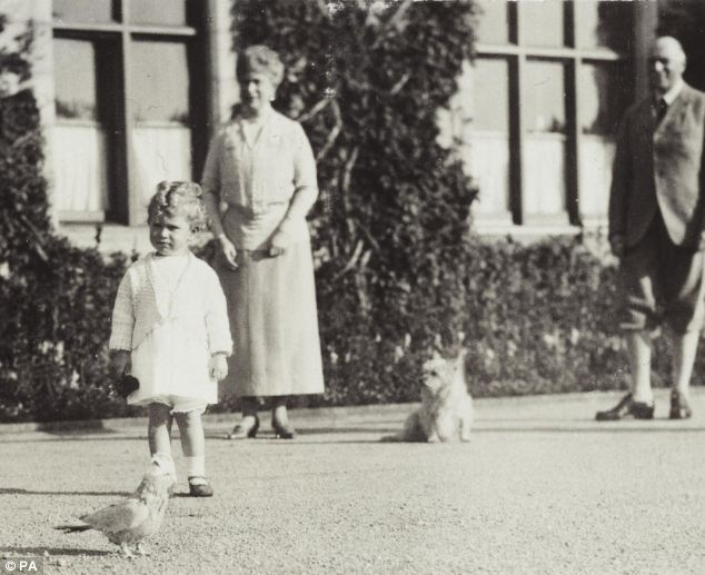 indypendentroyalty:  The Royal Collection photo taken by King George VI (then Duke of York) at Balmoral in 1928, showing the two-year-old Princess Elizabeth with Queen Mary, the Earl of Athlone, and King George V's parrot and dog(via x)