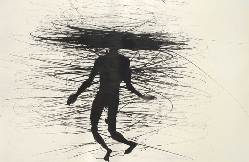 drawings, ink on paperAntony Gormley