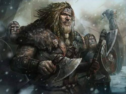 vikings drakkar axe battlefield battle axe warriors fighters rpg medieval fantasy art