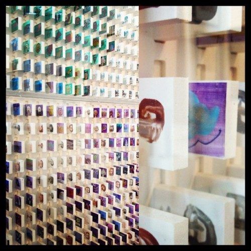 wall of matchbox art on display at artMRKT from over the weekend. so tiny. so good. #sf #sanfrancisco #artMRKT #art #events #artgalleries #matchboxes (at Fort Mason)