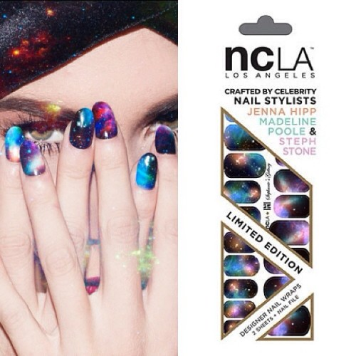 Sky's the limit with @stephstonenails #Galaxy #nailwraps designed for @nailinghwood x @shopncla #collab avail $16 www.shopncla.com
