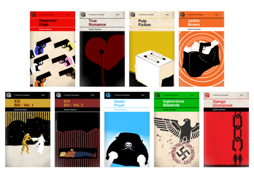 designcube:  Quentin Taratino Movies as Penguin Books by Sharm Murugiah
