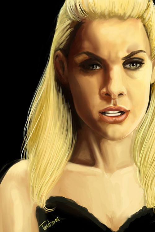 tantoun:  Tamsin speed paint portrait, 2 hours.