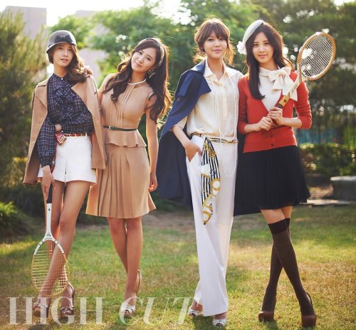 SNSD's pictorial for HIGH CUT