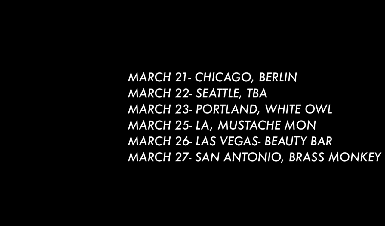 D8S FOR MARCH IN THE USA TOUR.