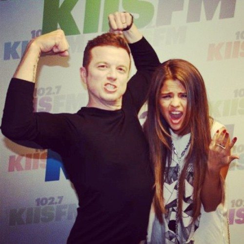 jojowright: Just flexin' w/ @selenagomez. Don't think she's impressed. HA! (I'm on the left)