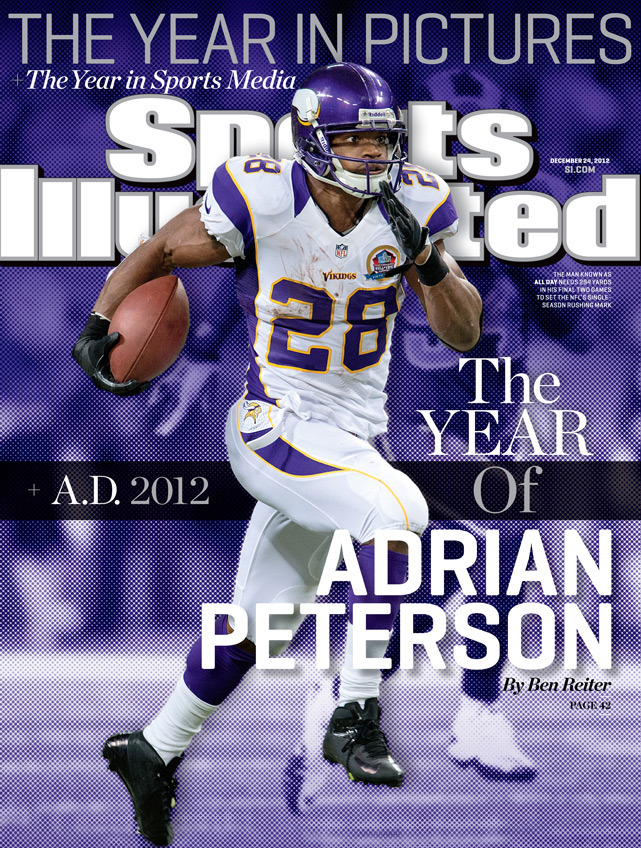 This week's SI cover features Adrian Peterson and details his miraculous return from a devastating knee injury. (John Biever/SI) GALLERY: Rare Photos of Adrian Peterson