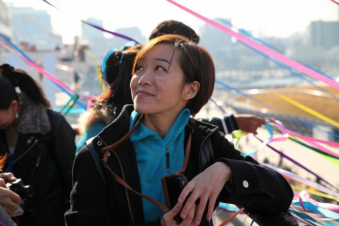 Wang Shun-Wei and the anti-nuclear movement in Taiwan, Dec 19, 2012 Departure ceremony: The Taiwanese activist Wang Shun-Wei joined Peace Boat as a guest educator from Yokohama, Japan to Keelung, Taiwan