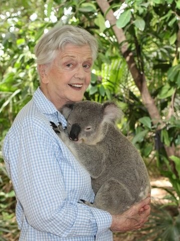 adulthoodisokay:  mrdavidgordon:  This is Angela Lansbury and a koala.  ohmygod  Your port in a storm.