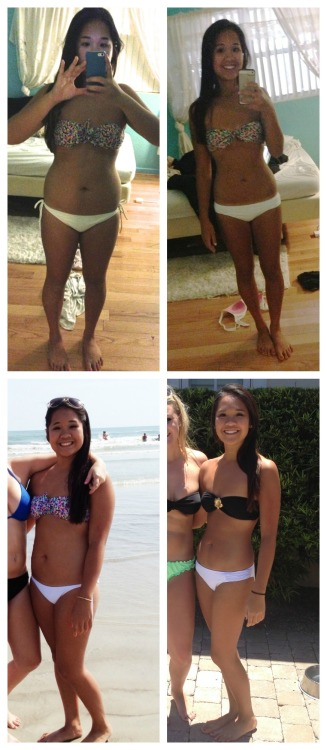 beforeandafterfatlosspics:  reversedd Before: 138 lbs  After: 107 lbs It's pictures like these where I notice how much weight i've lost. After about 4 months of hauling my butt to the gym, eating clean, and going on as many runs as possible, I have ended up losing about 30 lbs and am happier than ever. I'm not saying you need to lose weight to be happy, but working at a healthier lifestyle has made me a more confident, happy, and strong-willed person. Please just don't give up, although you may not see a change in the mirror, each day you're making a little bit of progress that one day you'll all see. Living healthy is a fight that you can win.  http://reversedd.tumblr.com