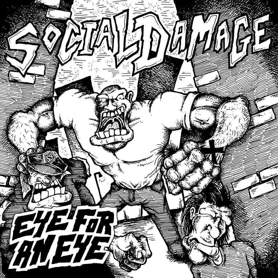 "lifetoliverecords:  LTL - 020 - Social Damage - Eye For An Eye 7"" (FFO: Straight Ahead) Art by Chad Lawson. Pre-Orders coming soon."