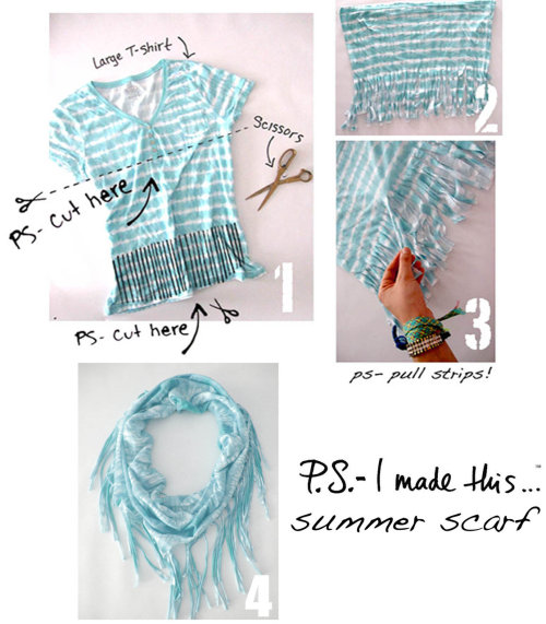 moorbi:  Martina at Moorbi helps show you how to make a scarf out of a old t-shirt!