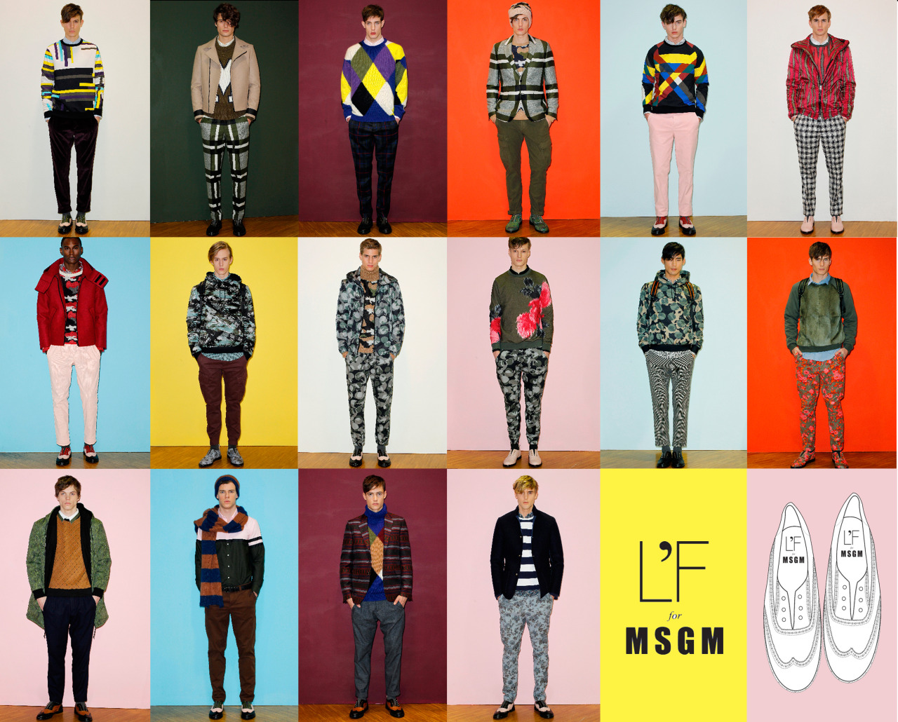 L'F shoes designed exclusively for MSGM