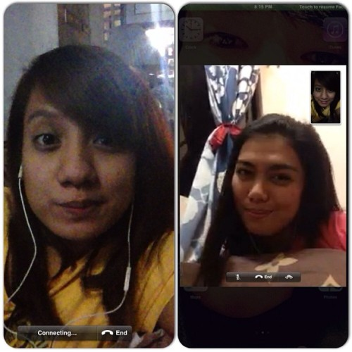 Facetime-ing with this bitch. Lol @imrnatividad ikaw daw next. Good luck, lol