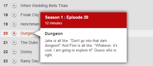 Netflix describes Adventure Time