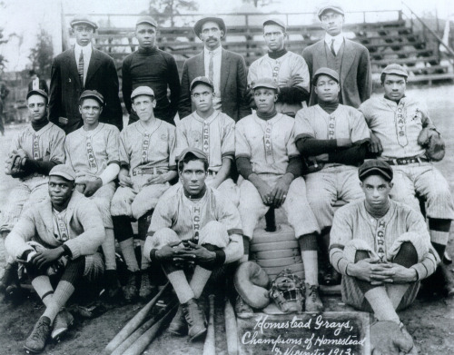 Homestead Grays of the Washington DC Negro League, 1913. via Black History Album, The Way We WereFollow us on TUMBLR  PINTEREST  FACEBOOK  TWITTER
