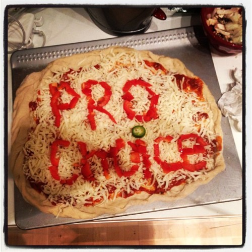 lovehermindlovehershoes:  #ProChoice pizza!