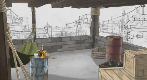 nine-bubbles:  WIP I will die with the buildings in the background… I know OTL