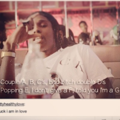 goodvibes-puresoul:  #asap #rocky #alphabet #peso i be that #pretty motherfucker #niggerish #tumblr #gif