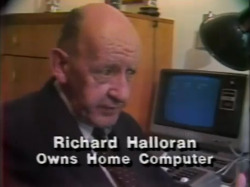 News report from 1981 about the internet (x)  good photo of me