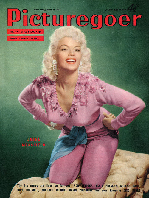 corporalsteiner:  Jayne Mansfield on the cover of Picturegoer magazine.   Week ending 16th March, 1957.